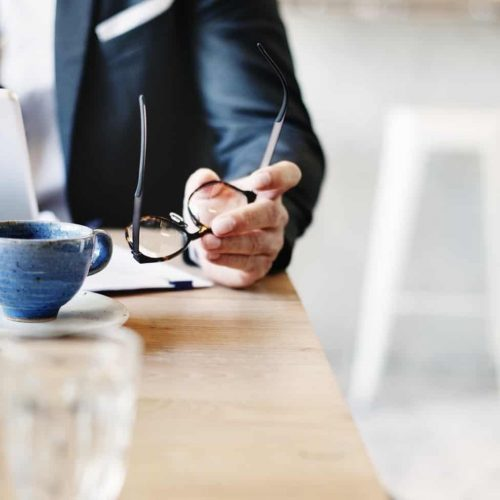 Businessman Work In Cafe Concept
